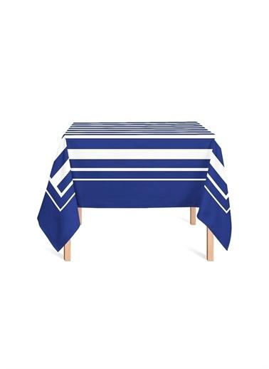 Helen George Masa Örtüsü Mavi
